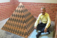 The finished pyramid sitting in Cory Nielsen's garage in Arizona. Credit: Cory Nielsen